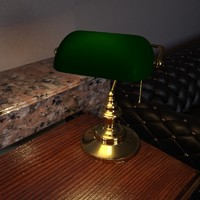 retro lamp 3d model