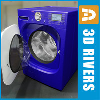 Blue washing machine by 3DRivers