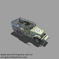 3d model m3a half