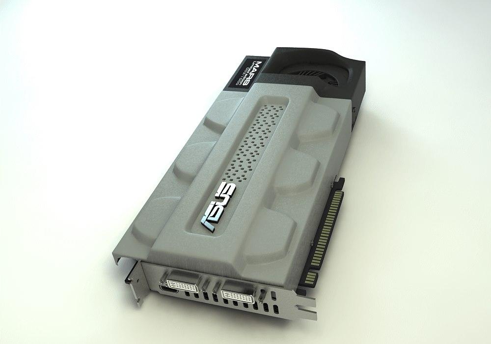 3d model asus card mars graphics
