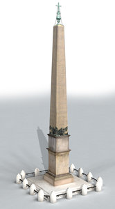obelisk st peter rome 3d model
