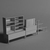 bookshelf book shelf 3d model