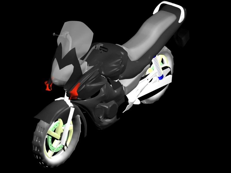 3d max sports bike black