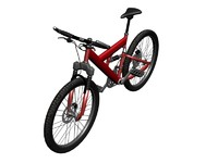 Mountain Bike red