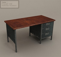 Table Lowpoly for environment