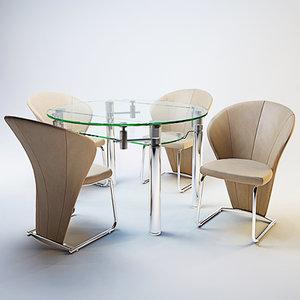 3d modern dining set