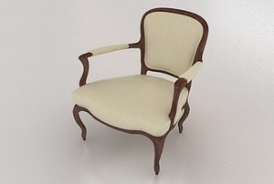 french style edwardian chair 3d max