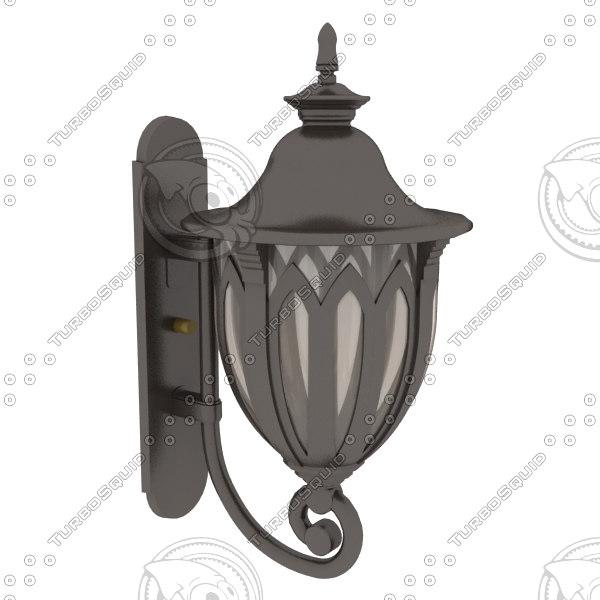 exterior wall light fixture 3d model