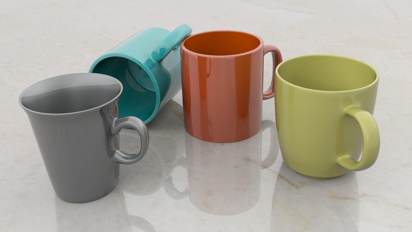 coffe mugs 3d model