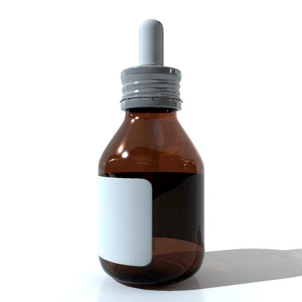 3d medicinal drops model