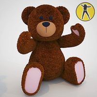cute teddy bear toy 3d max
