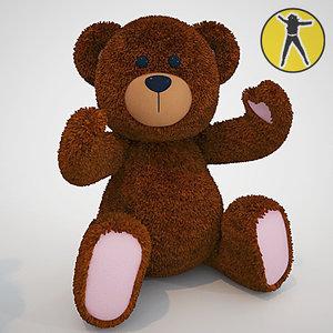 cute teddy bear toy 3d max