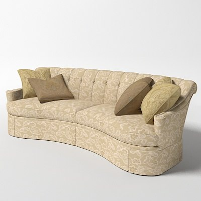 Astounding Thomasville Riviera Curved Tufted Classic Sofa 1179 11 Upholstered Download Free Architecture Designs Grimeyleaguecom