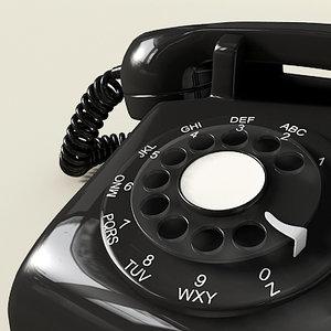 3d rotary telephone model