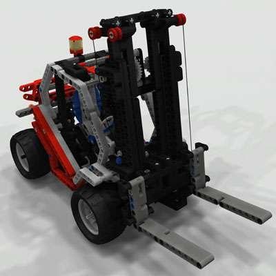 3d lego forklifter