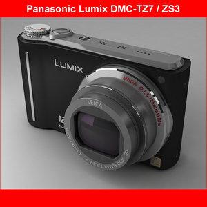 3d panasonic dmc-tz7 model