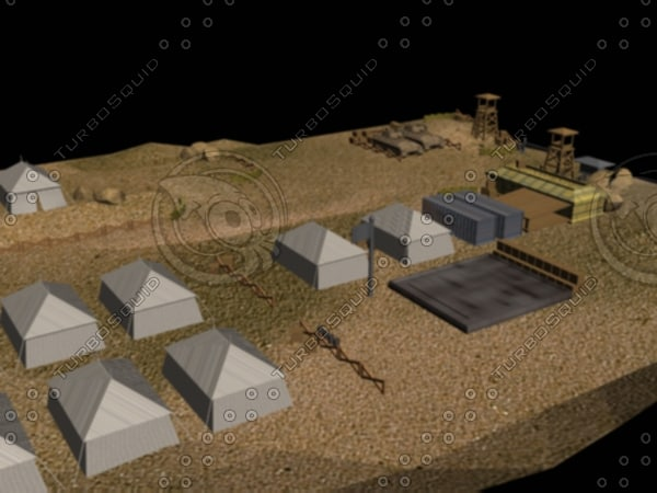 free military base 3d model