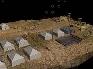 free military base 3d model