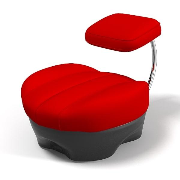3d zanotta stool achille model