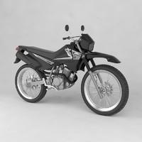 3d model yamaha xtz 125