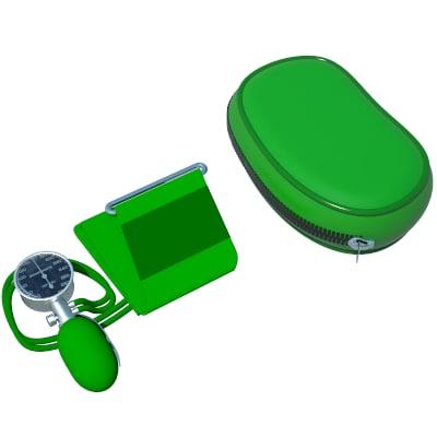 3d sphygmomanometer meter model