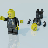 Lego man, police officer