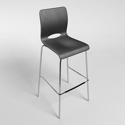 chair bar action 3d model