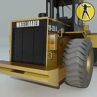 wheel loader 3d max