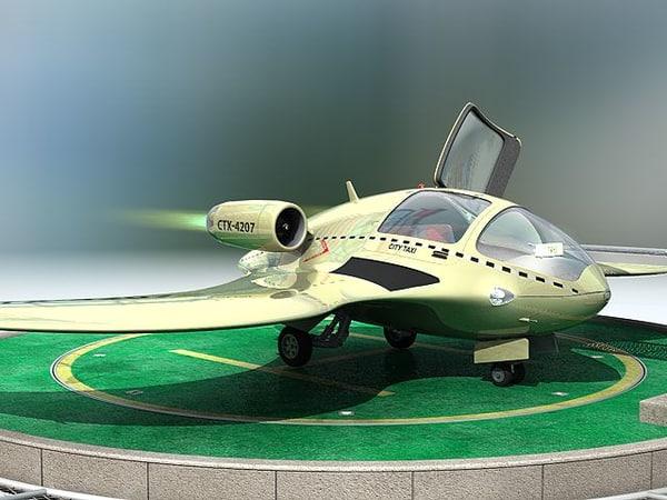 taxi jet concept c4d