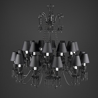 obj baccarat starck zenith crystal chandelier