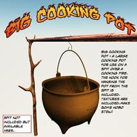 3d model big cooking pot