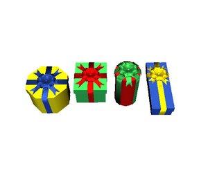 3d presents birthdays christmas