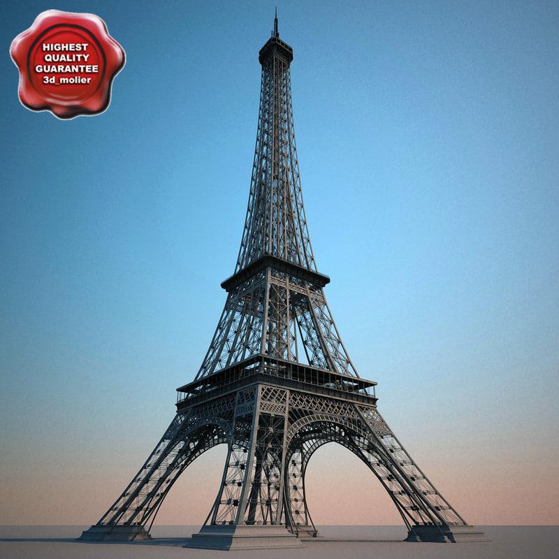 Lightwave eiffel tower for Eiffel tower model template