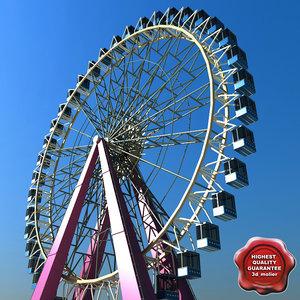 3d realistic ferris wheel