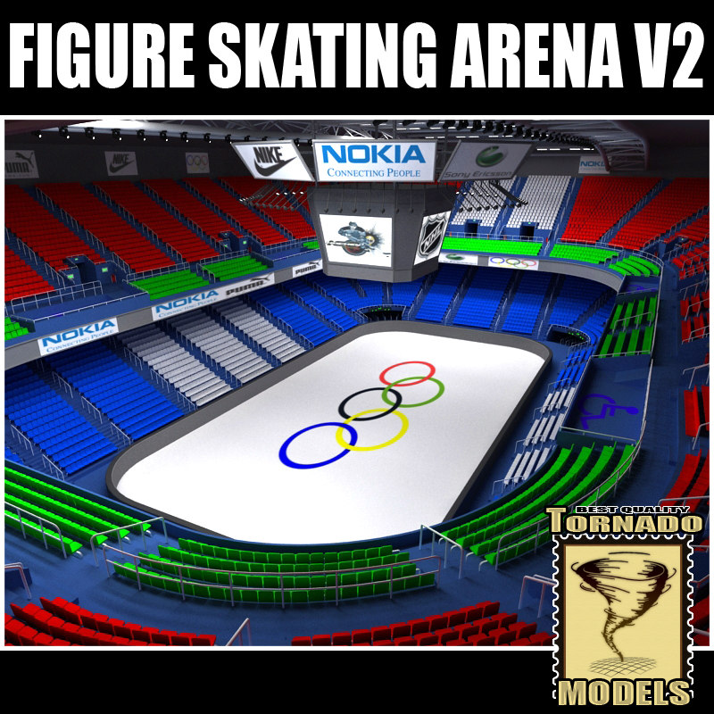 3ds max figure skating arena v2