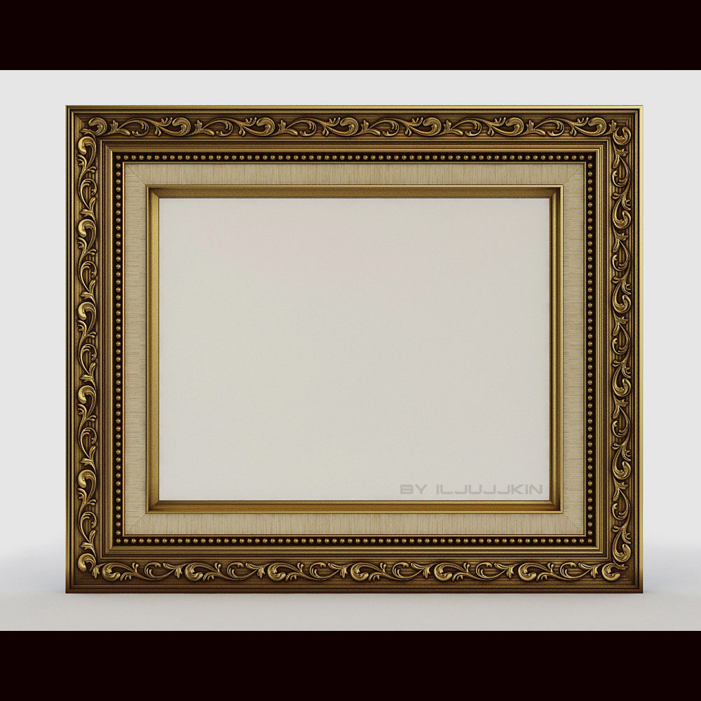 3d model frame pictures classic