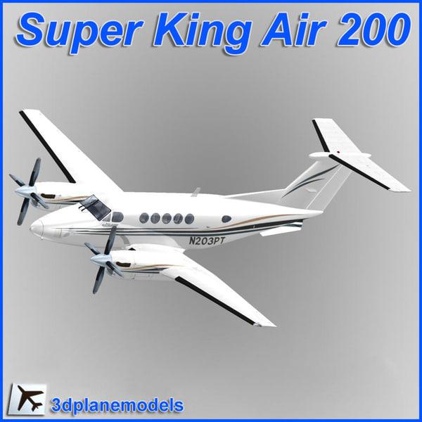 3d beechcraft super king air model