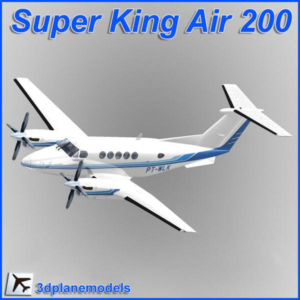 beechcraft super king air 3d dxf