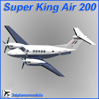 3d model beechcraft super king air