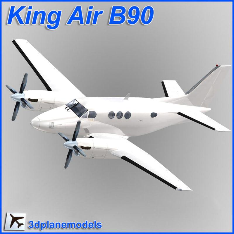 beechcraft c90 king air 3d max