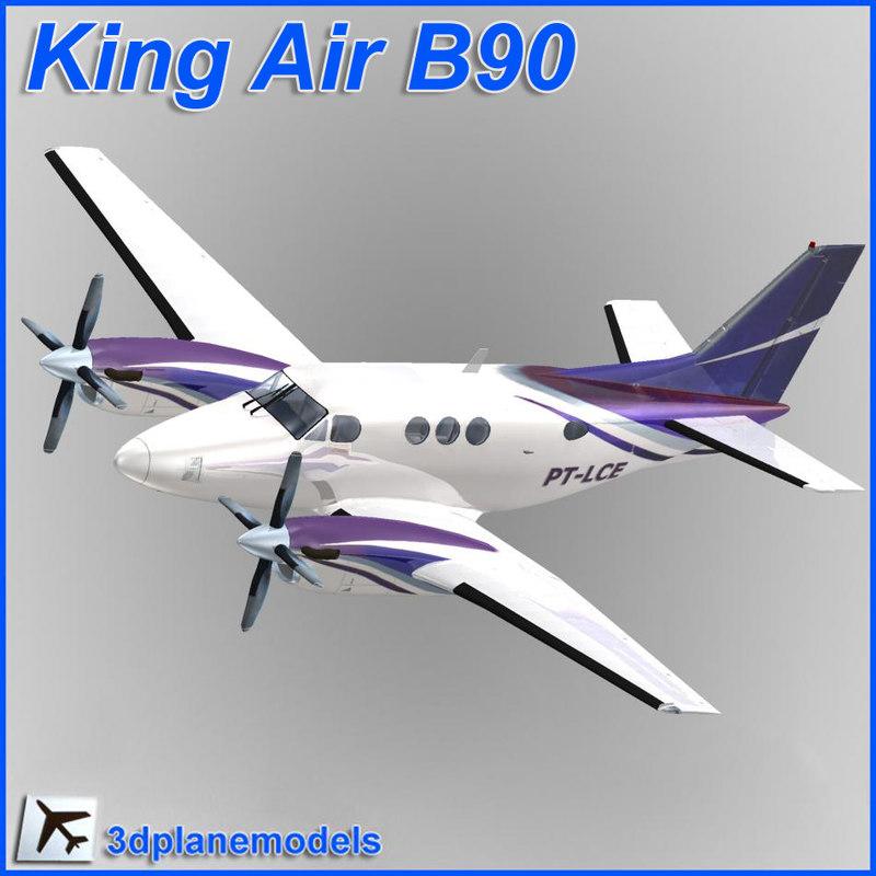 beechcraft c90 king air 3d dxf