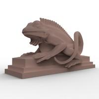 Bali Lizard Sculpture