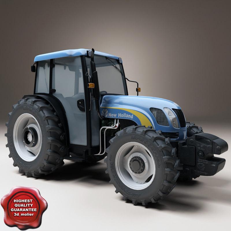 3d new holland t 4050 model