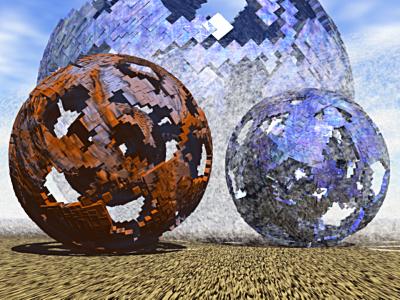 3d model onado7c damaged sphere