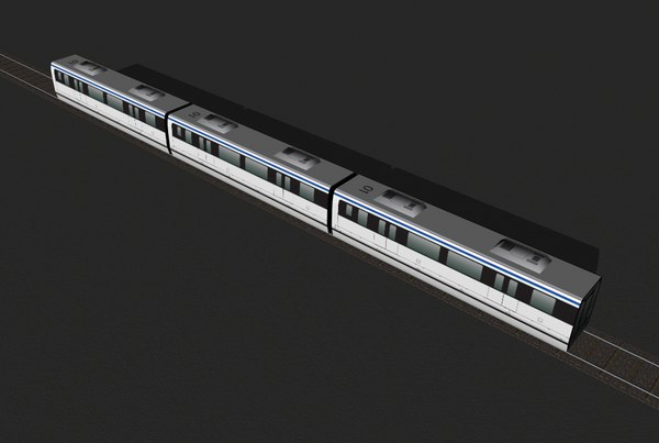 cinema4d commuter train