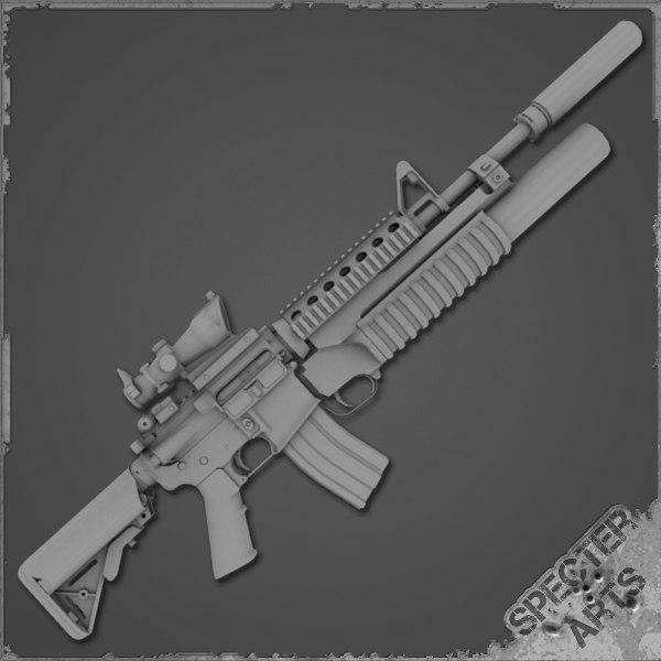 3d sof grenadier m4a1 carbine model