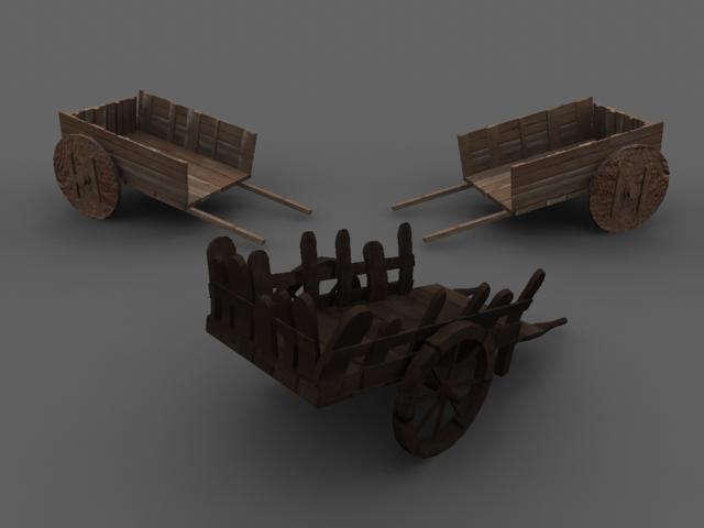 3d wheelbarrow set model
