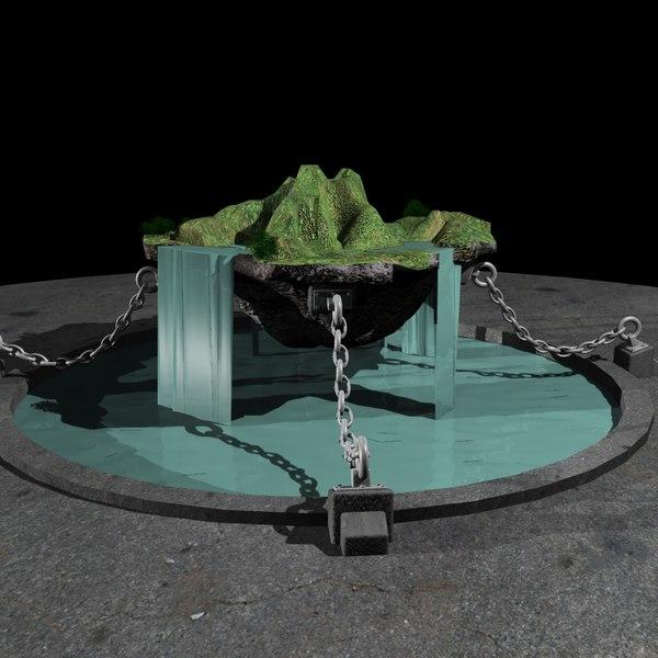 floating island 3d model