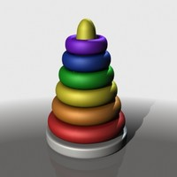 plastic stacking rings baby 3d model