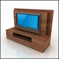 3d tv wall unit modern design model